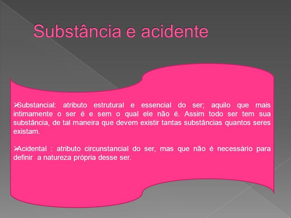 Substância e acidente