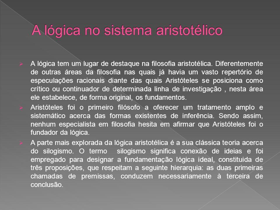 A lógica no sistema aristotélico
