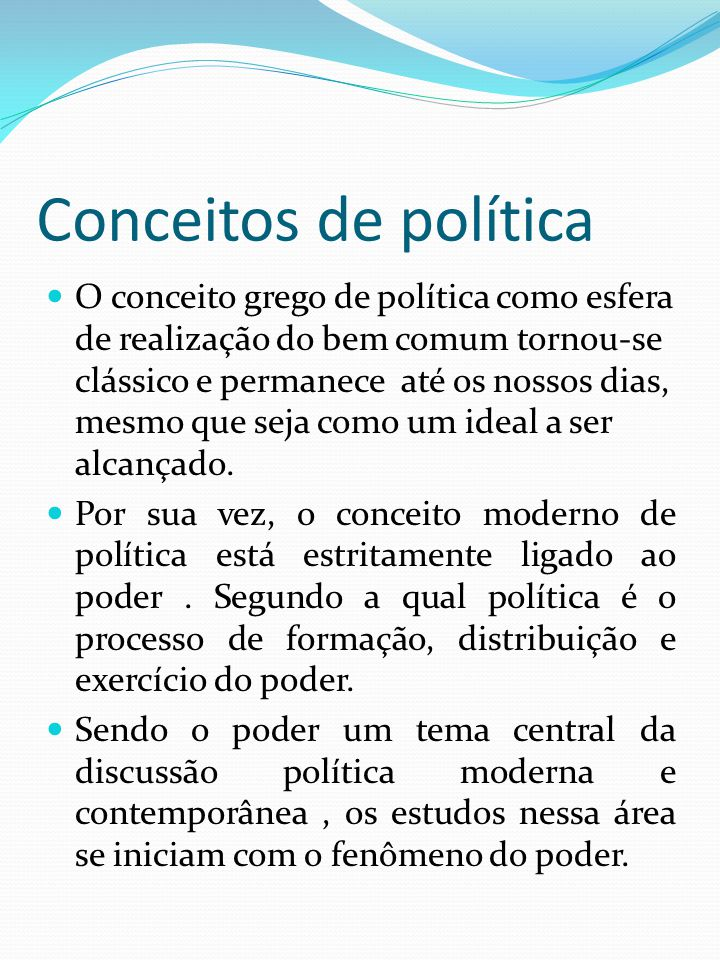 Conceitos de política