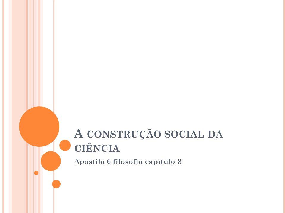 A construção social da ciência