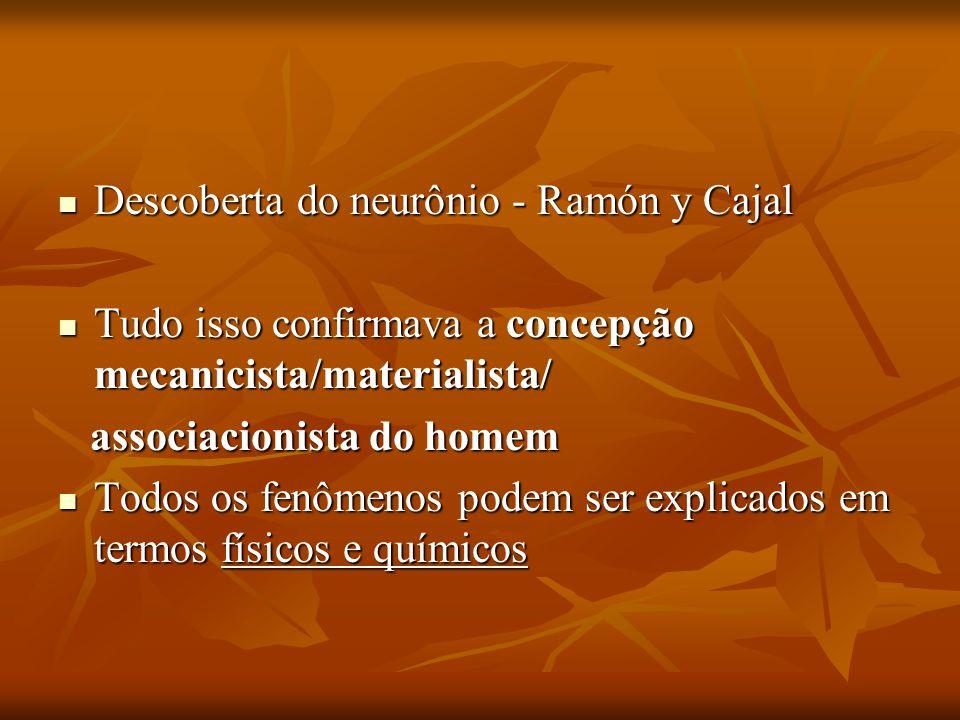 Descoberta do neurônio - Ramón y Cajal