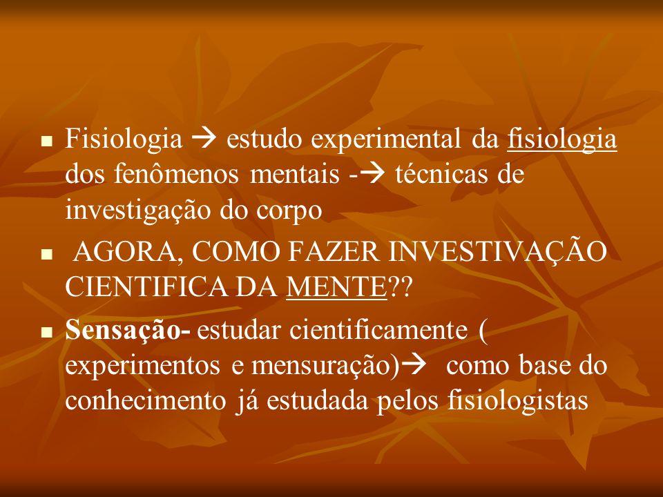 Fisiologia  estudo experimental da fisiologia dos fenômenos mentais - técnicas de investigação do corpo