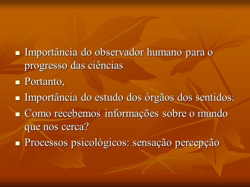 Importância do observador humano para o progresso das ciências