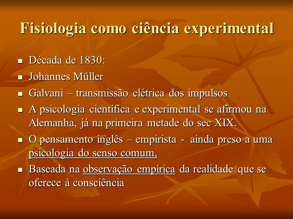 Fisiologia como ciência experimental