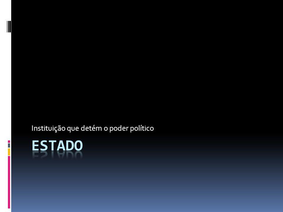 Instituição que detém o poder político