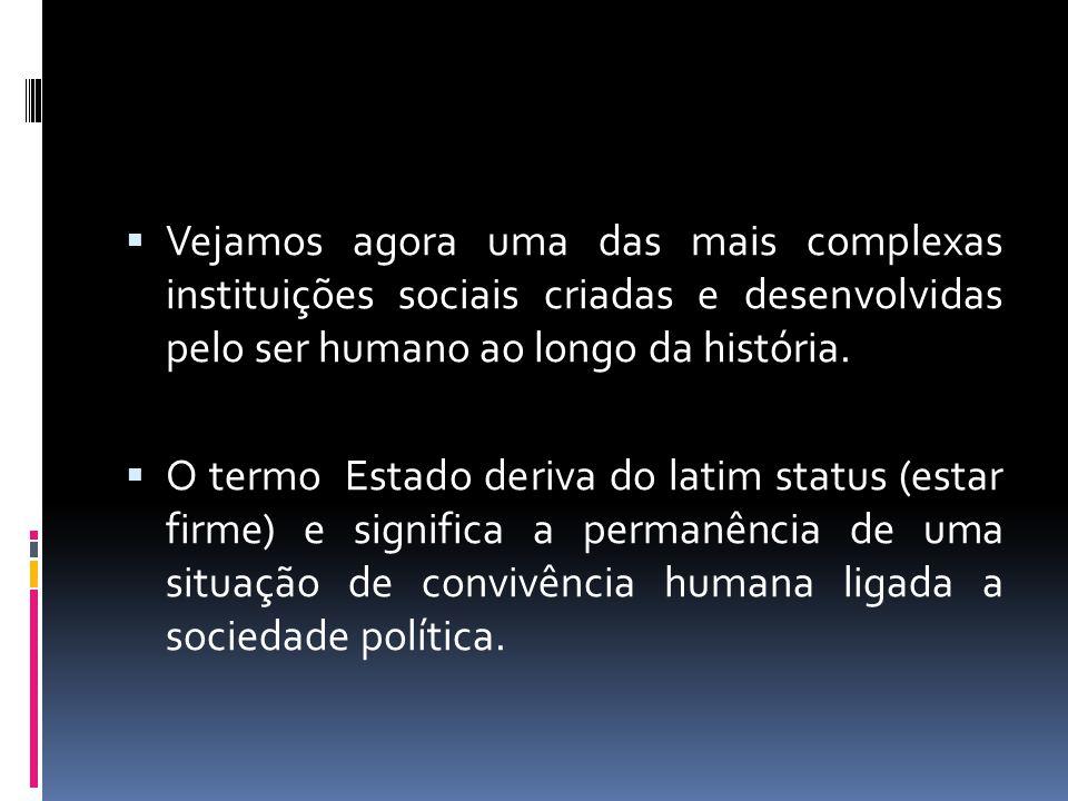 Vejamos agora uma das mais complexas instituições sociais criadas e desenvolvidas pelo ser humano ao longo da história.
