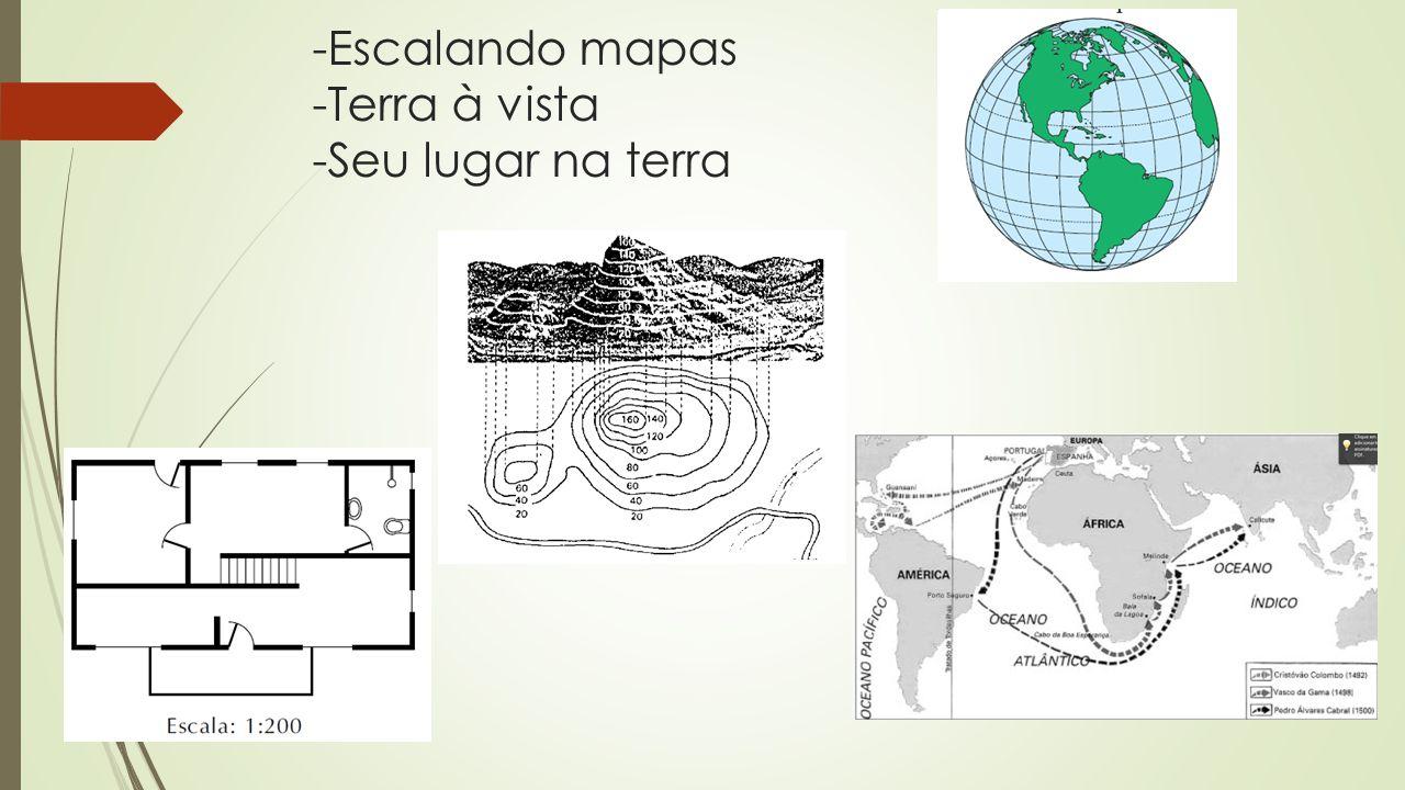 -Escalando mapas -Terra à vista -Seu lugar na terra