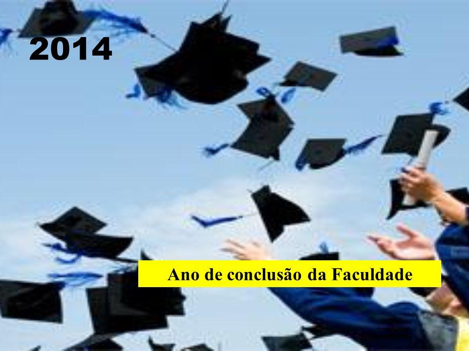 Ano de conclusão da Faculdade