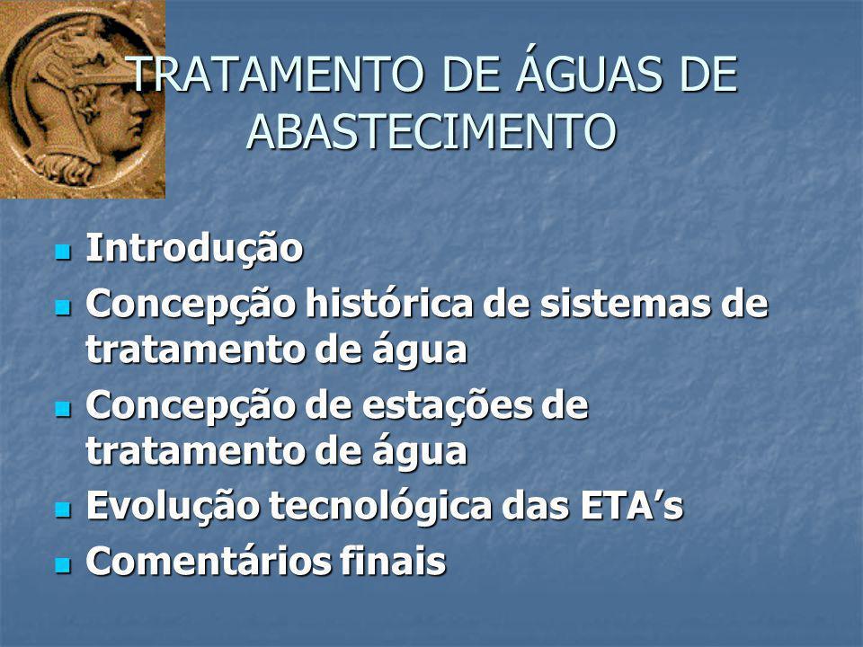 TRATAMENTO DE ÁGUAS DE ABASTECIMENTO