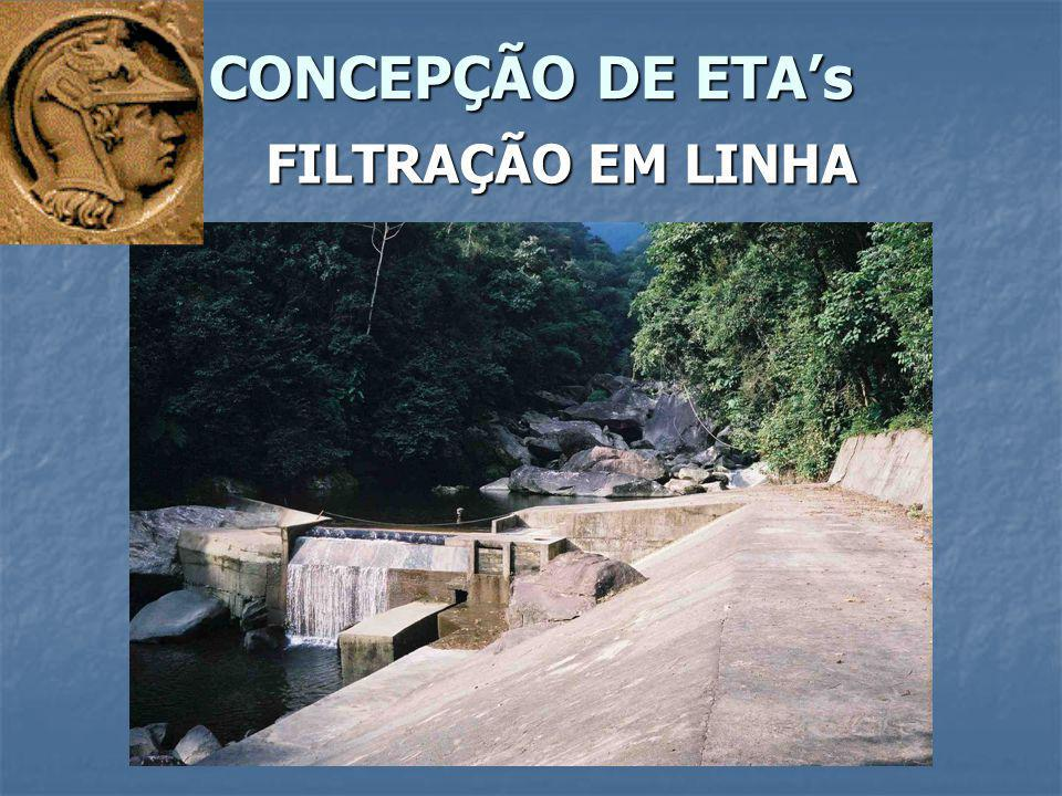 CONCEPÇÃO DE ETA's FILTRAÇÃO EM LINHA