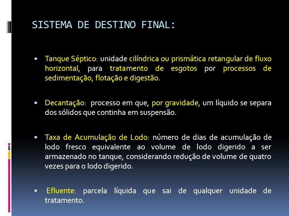 SISTEMA DE DESTINO FINAL: