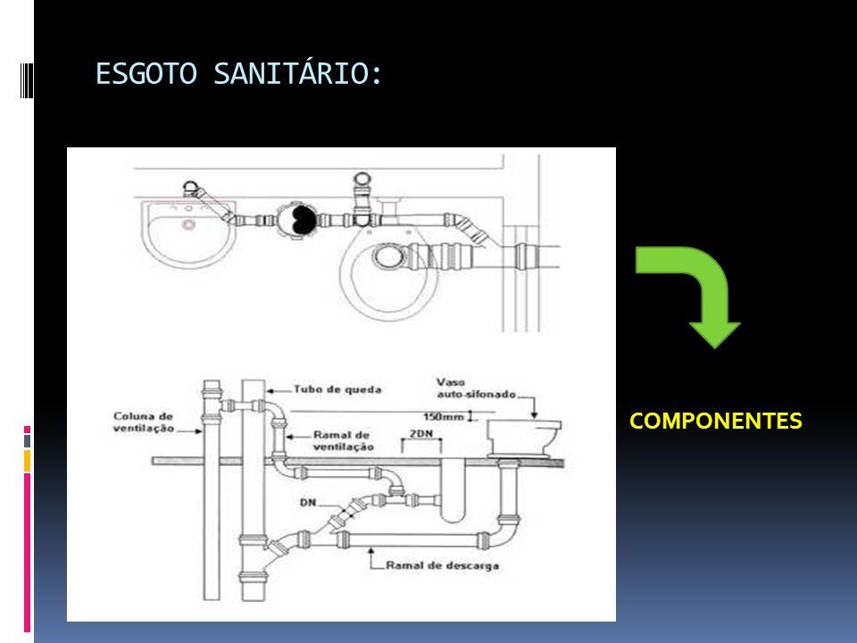 ESGOTO SANITÁRIO: COMPONENTES