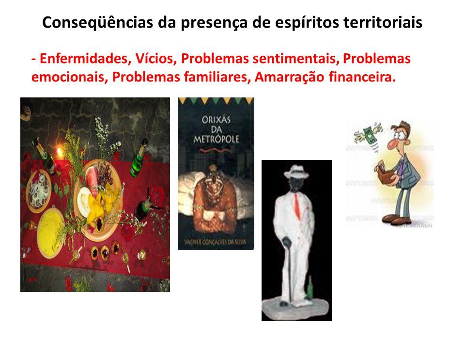 Conseqüências da presença de espíritos territoriais