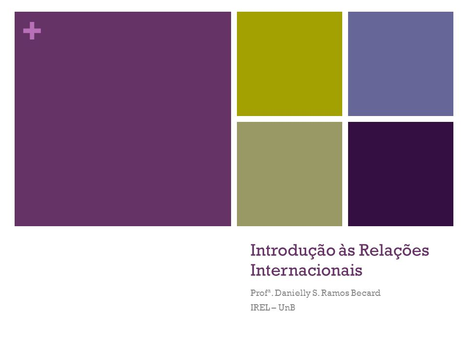 Introdução às Relações Internacionais