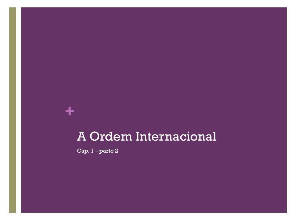 A Ordem Internacional Cap. 1 – parte 2
