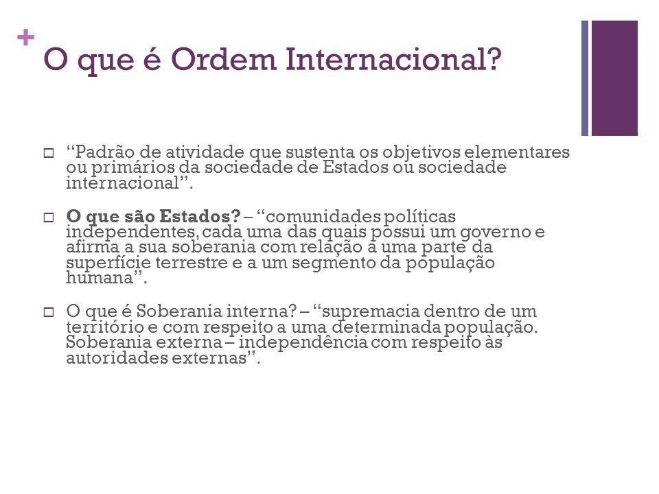 O que é Ordem Internacional