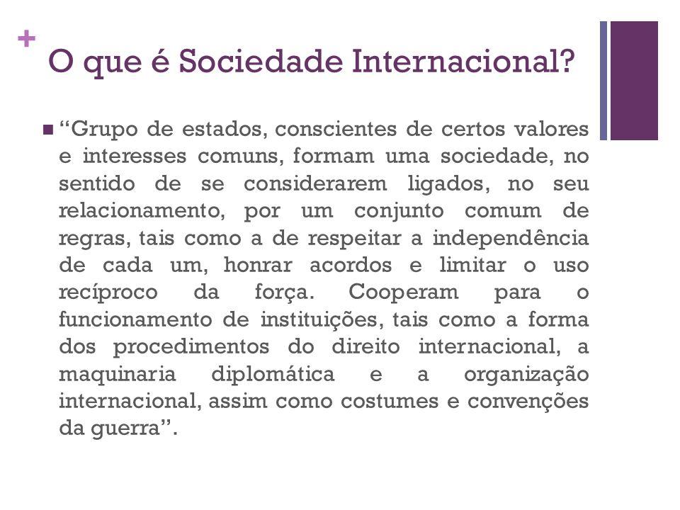 O que é Sociedade Internacional