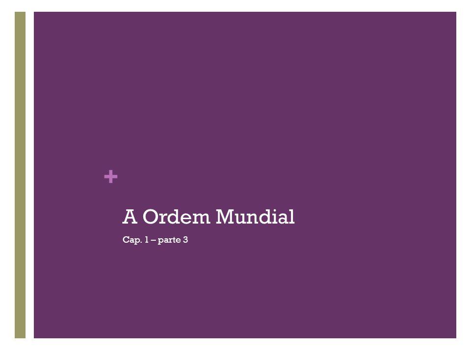A Ordem Mundial Cap. 1 – parte 3
