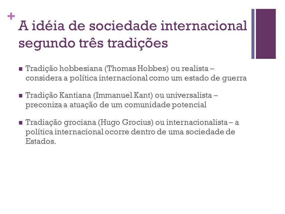 A idéia de sociedade internacional segundo três tradições
