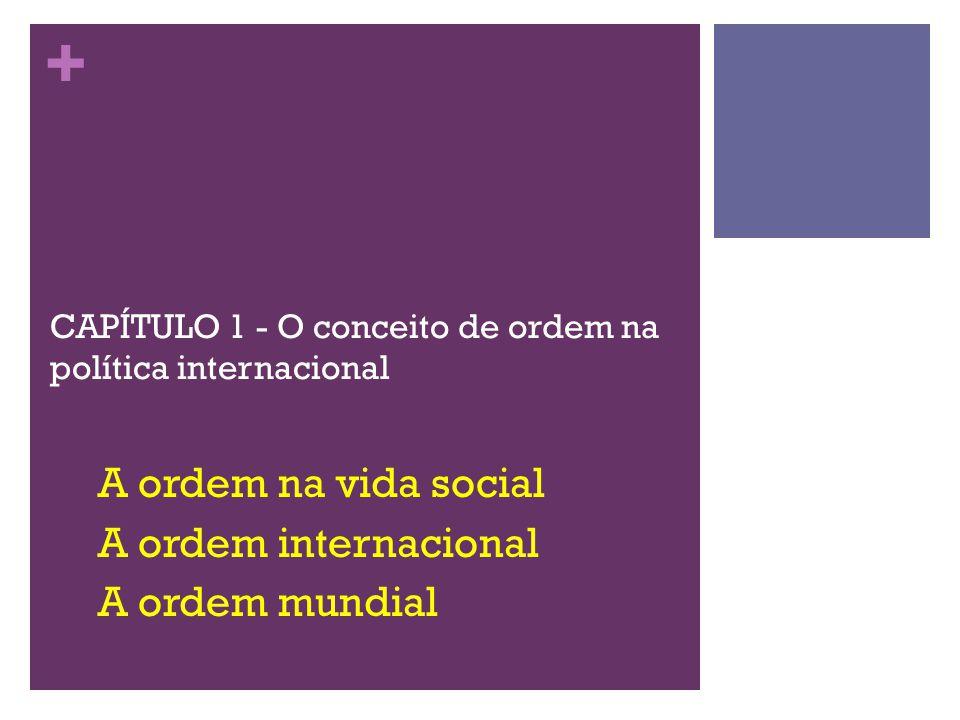 CAPÍTULO 1 - O conceito de ordem na política internacional
