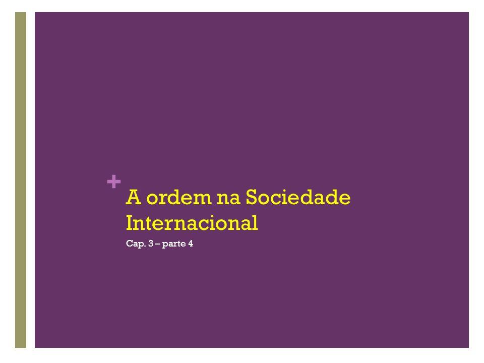 A ordem na Sociedade Internacional