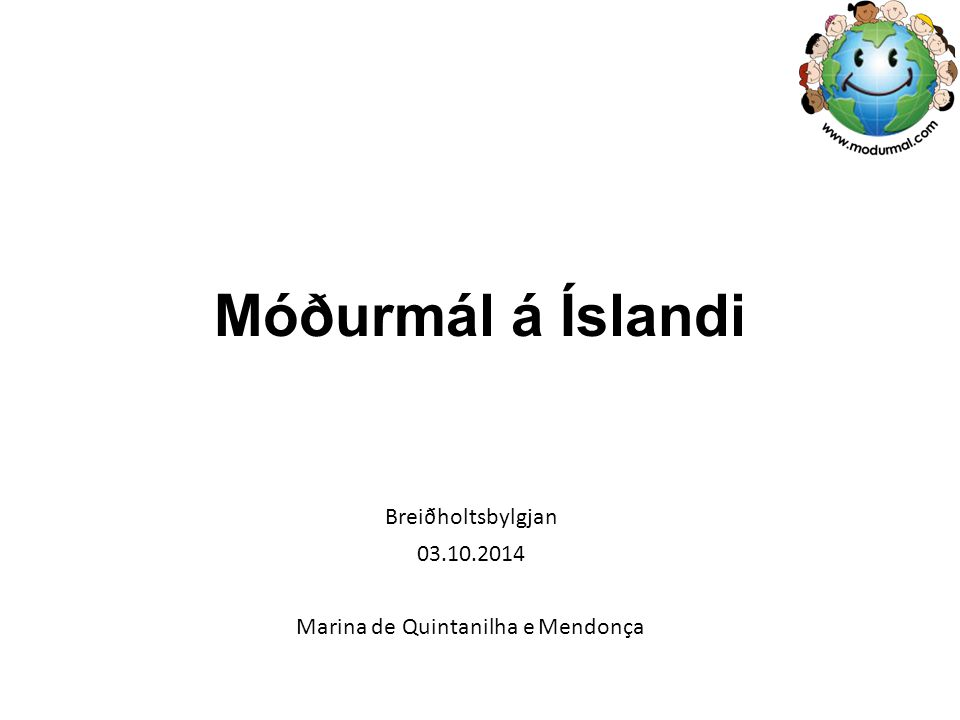 Breiðholtsbylgjan 03.10.2014 Marina de Quintanilha e Mendonça