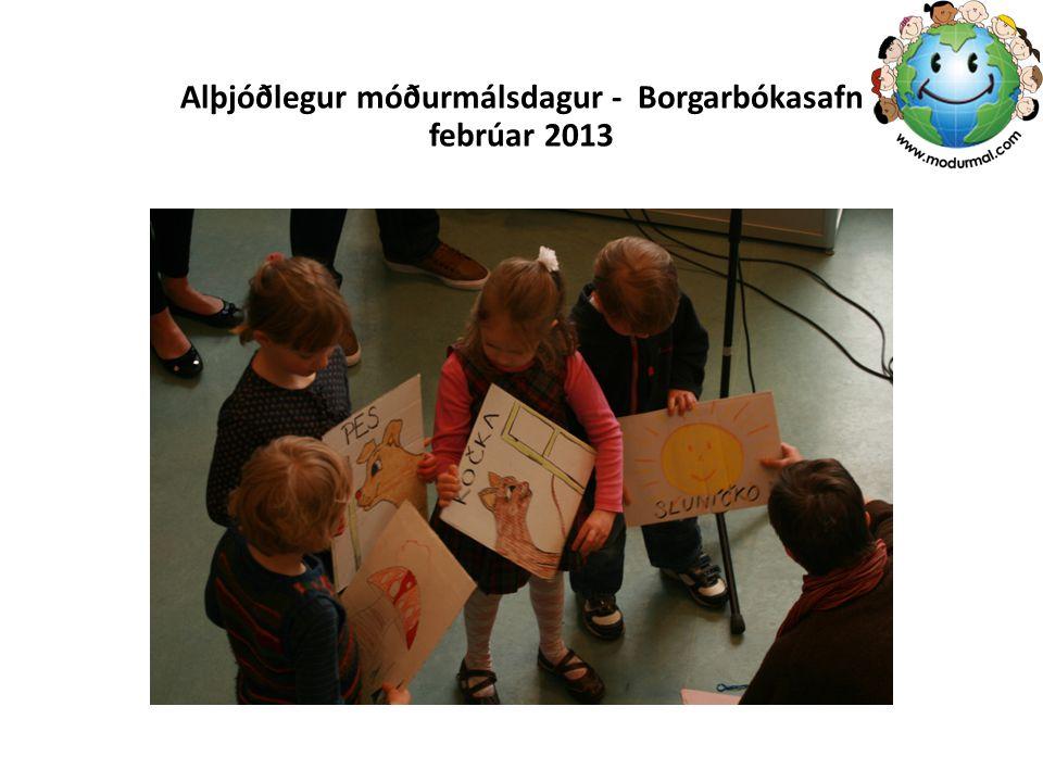 Alþjóðlegur móðurmálsdagur - Borgarbókasafn febrúar 2013