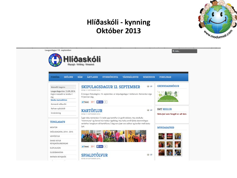 Hlíðaskóli - kynning Október 2013