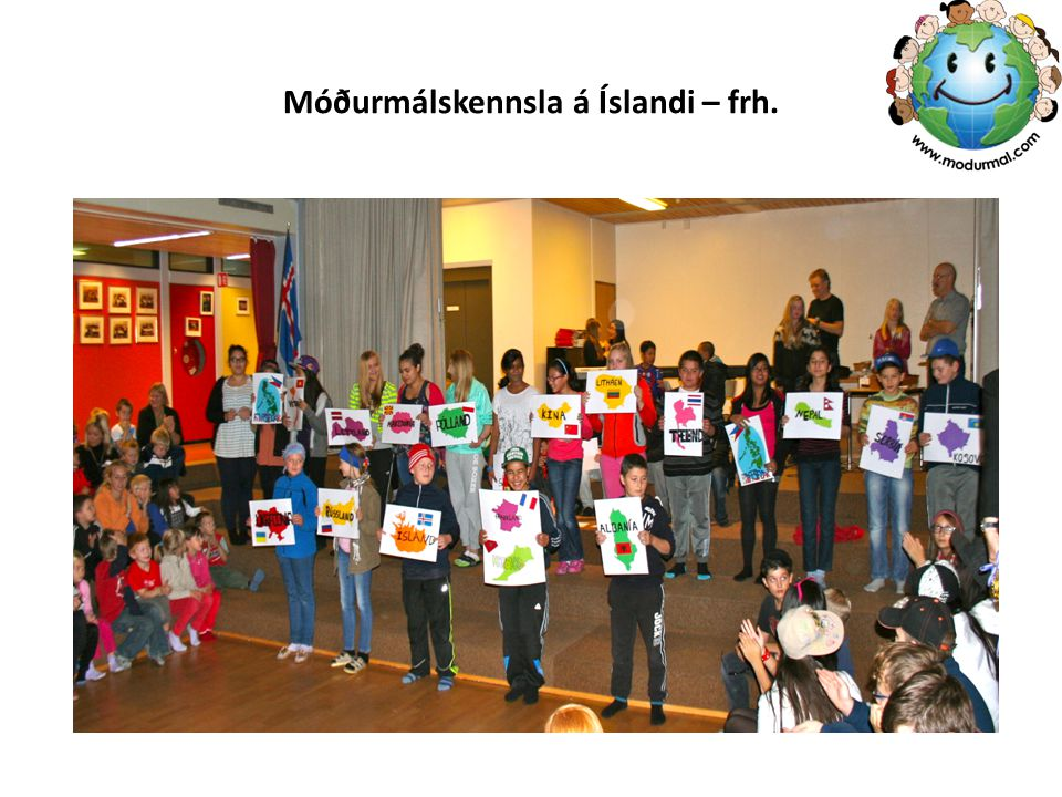 Móðurmálskennsla á Íslandi – frh