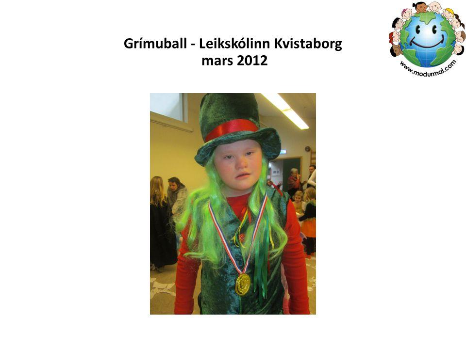 Grímuball - Leikskólinn Kvistaborg mars 2012