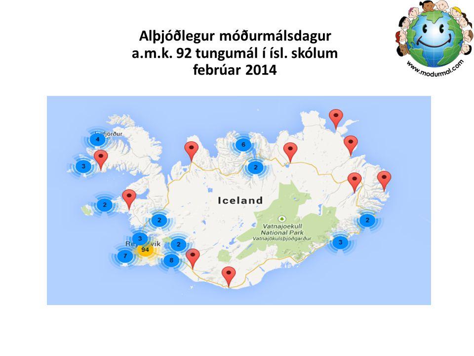 Alþjóðlegur móðurmálsdagur a. m. k. 92 tungumál í ísl
