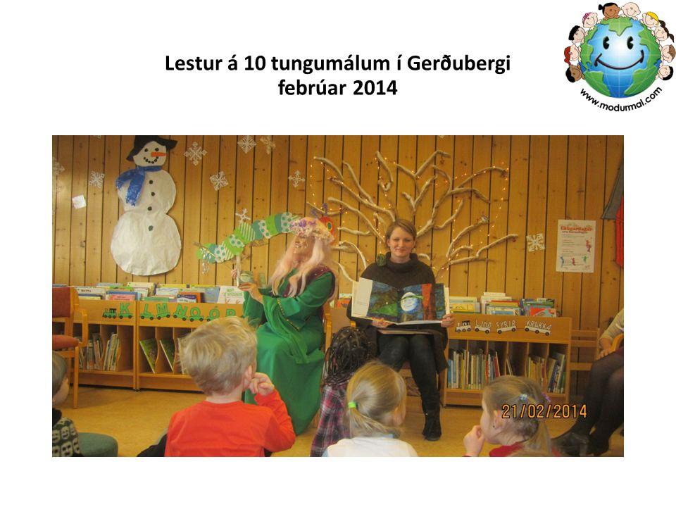 Lestur á 10 tungumálum í Gerðubergi febrúar 2014