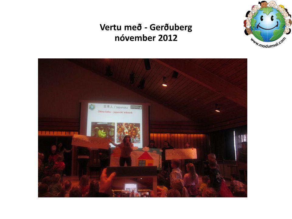 Vertu með - Gerðuberg nóvember 2012