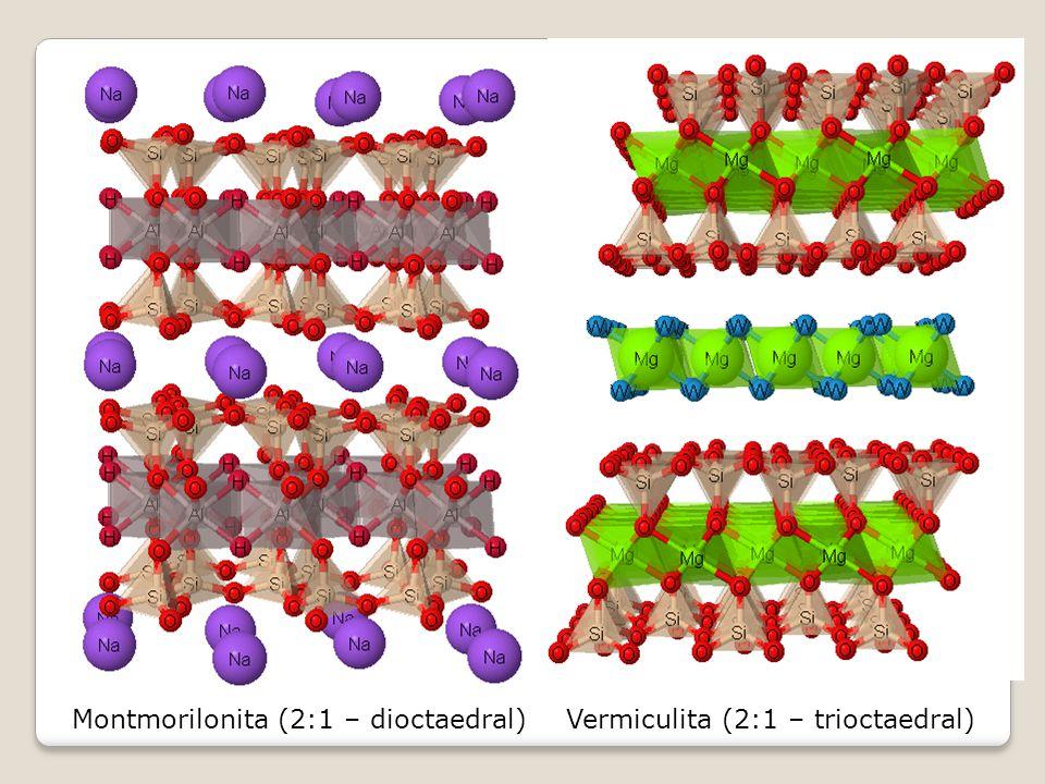 Montmorilonita (2:1 – dioctaedral)