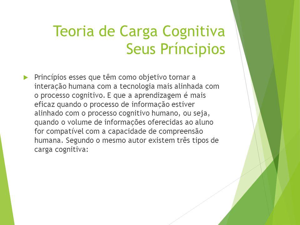 Teoria de Carga Cognitiva Seus Príncipios