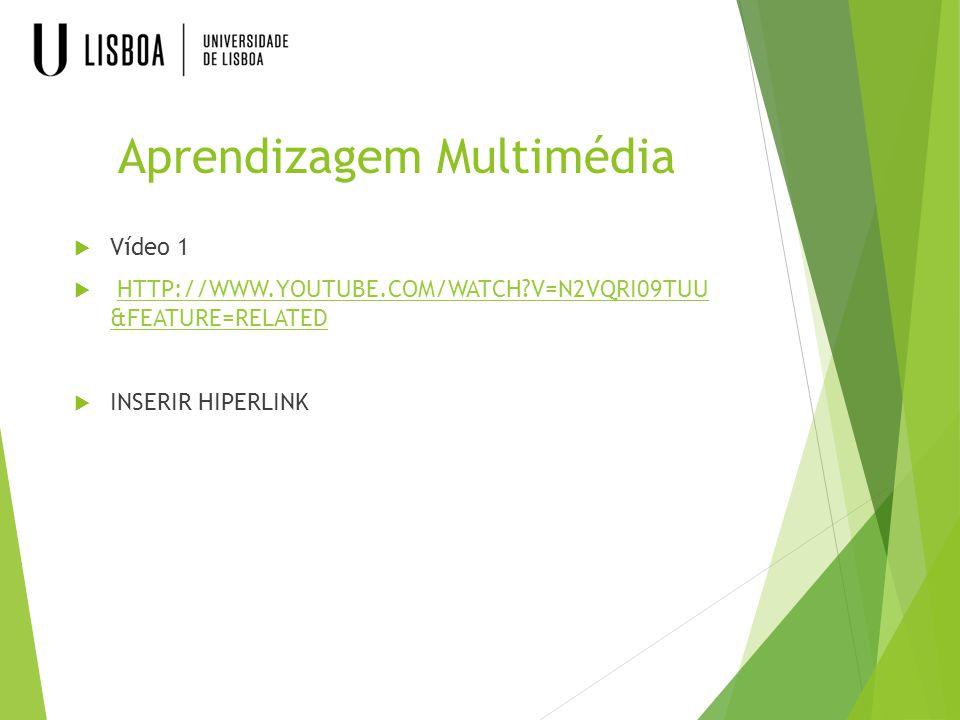 Aprendizagem Multimédia