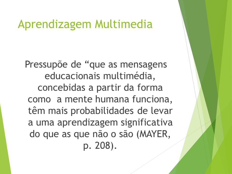 Aprendizagem Multimedia
