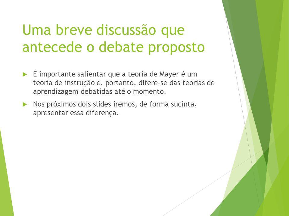 Uma breve discussão que antecede o debate proposto