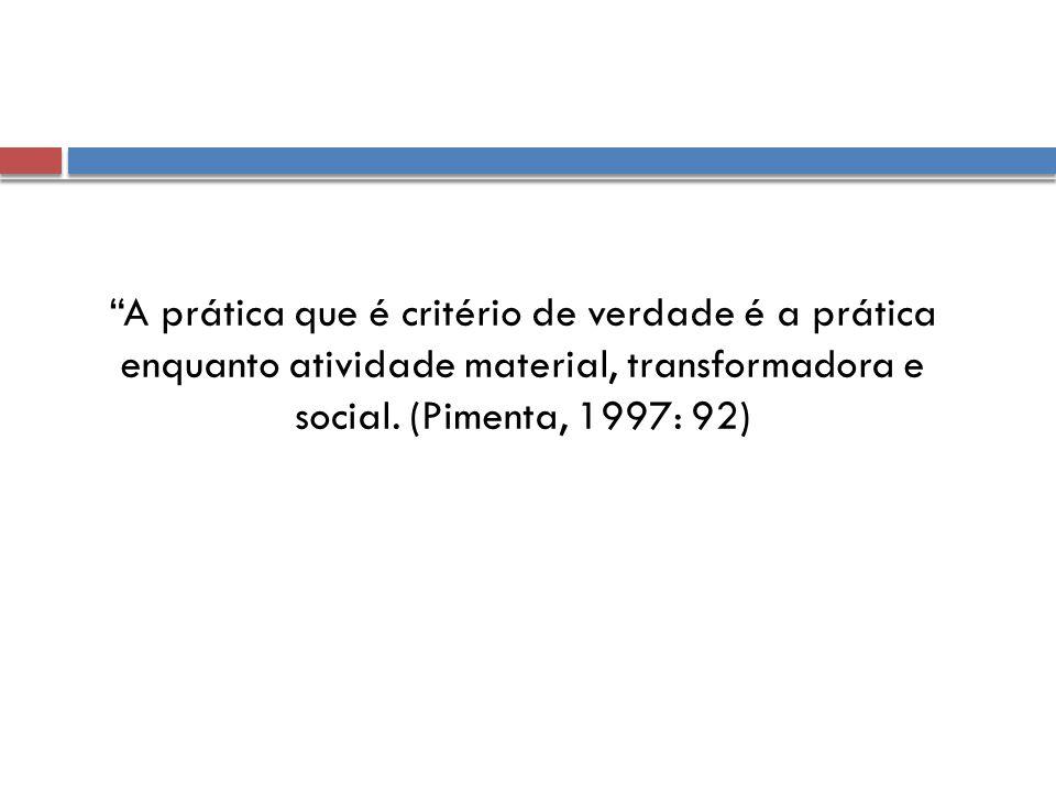 A prática que é critério de verdade é a prática enquanto atividade material, transformadora e social.