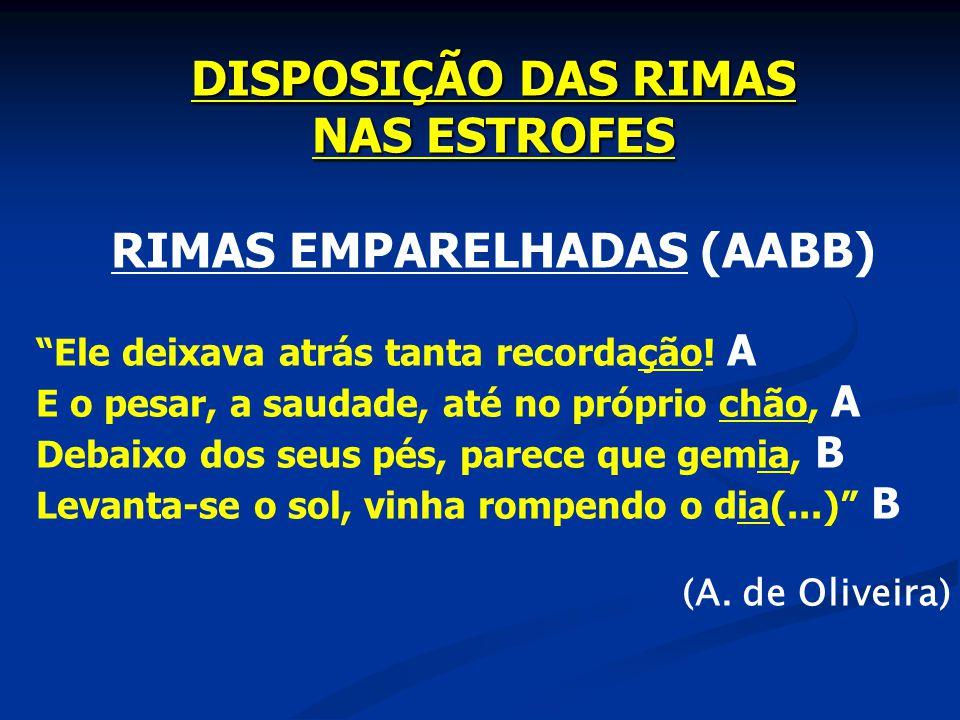 RIMAS EMPARELHADAS (AABB)