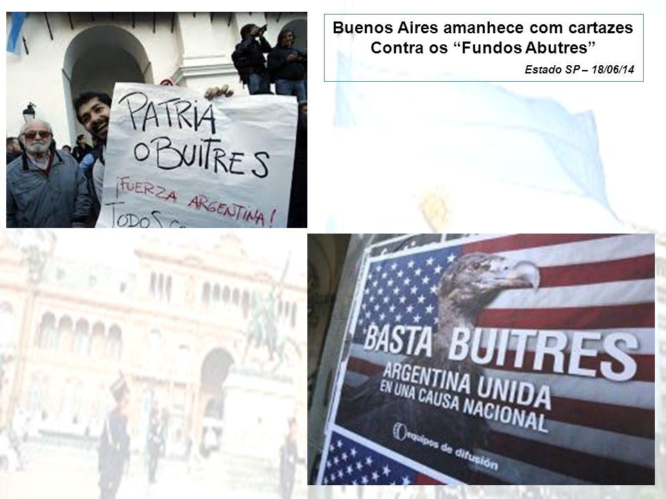 Buenos Aires amanhece com cartazes Contra os Fundos Abutres