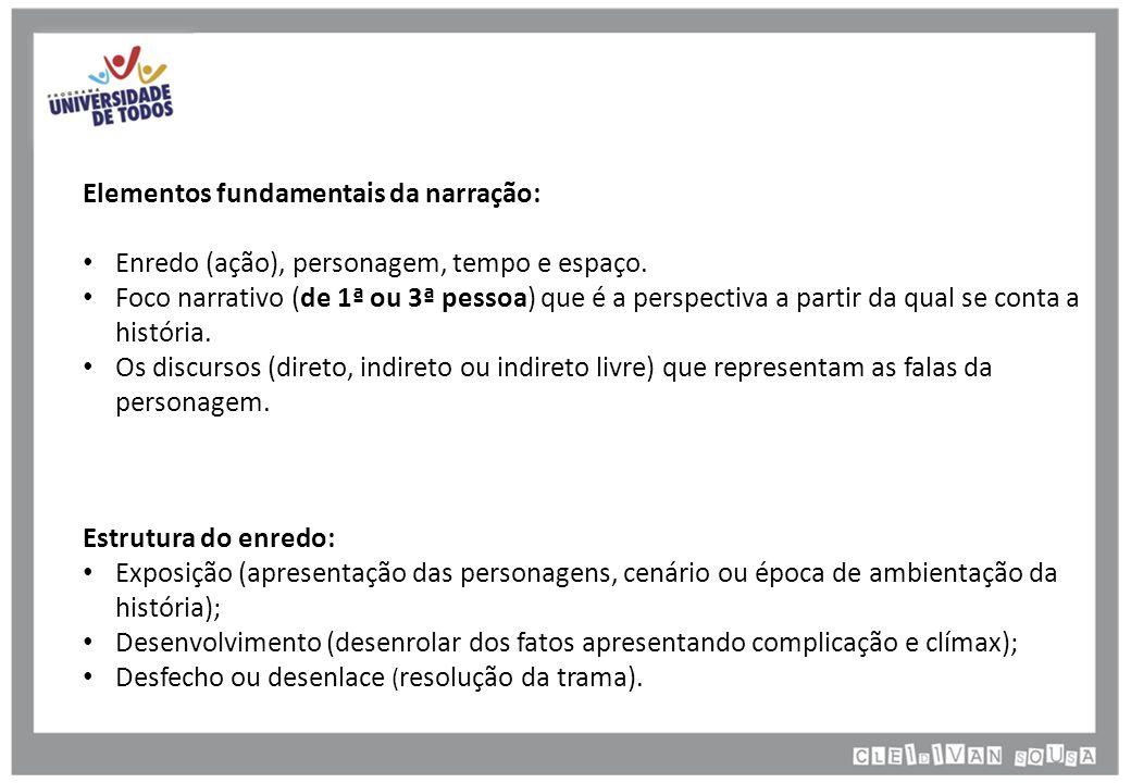 Elementos fundamentais da narração: