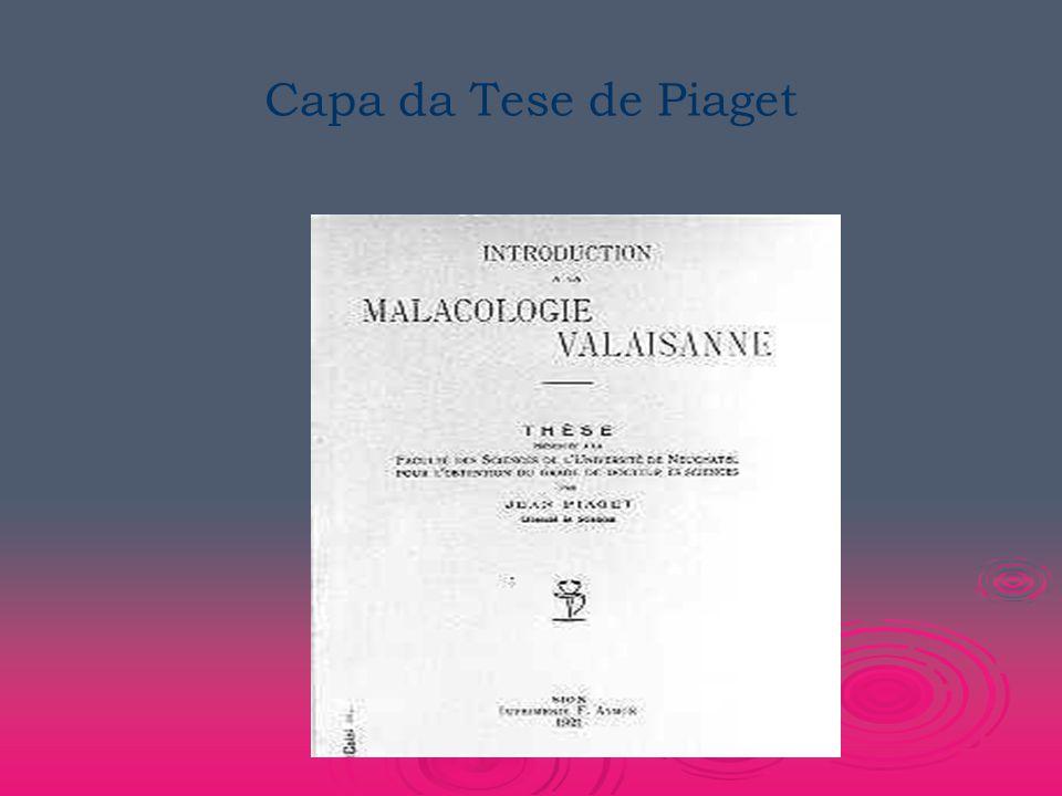 Capa da Tese de Piaget
