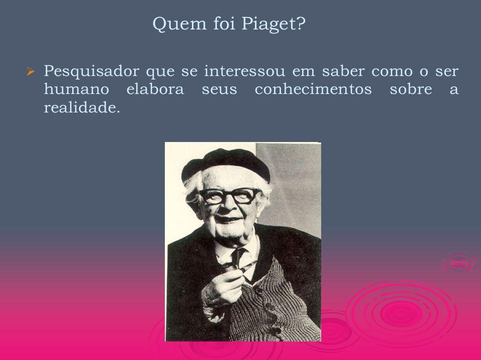 Quem foi Piaget.