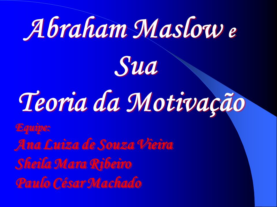 Abraham Maslow e Sua Teoria da Motivação