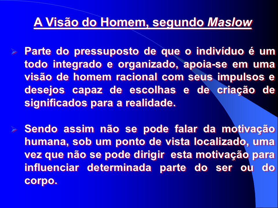 A Visão do Homem, segundo Maslow
