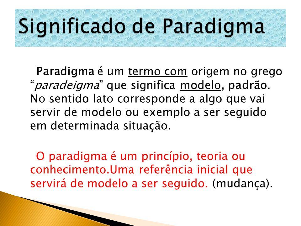 Significado de Paradigma
