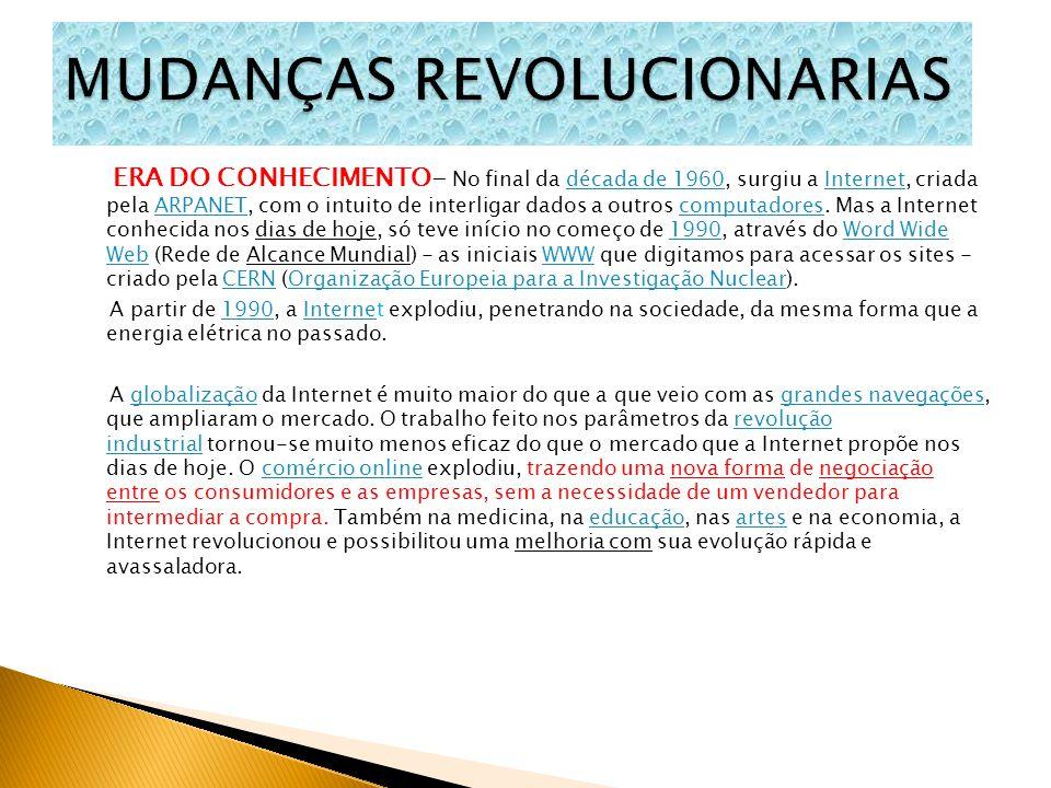MUDANÇAS REVOLUCIONARIAS