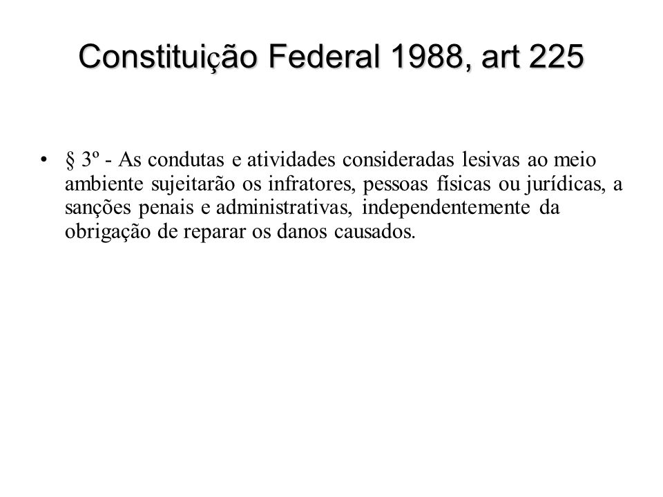Constituição Federal 1988, art 225