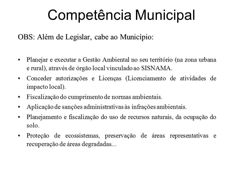 Competência Municipal